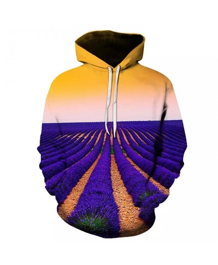 Blue field landscape Hoodies Hooded Men Women Hat 3d Sweatshirts Print Colorful Nebula Thin Autumn Sweatshirts Tops Pullovers