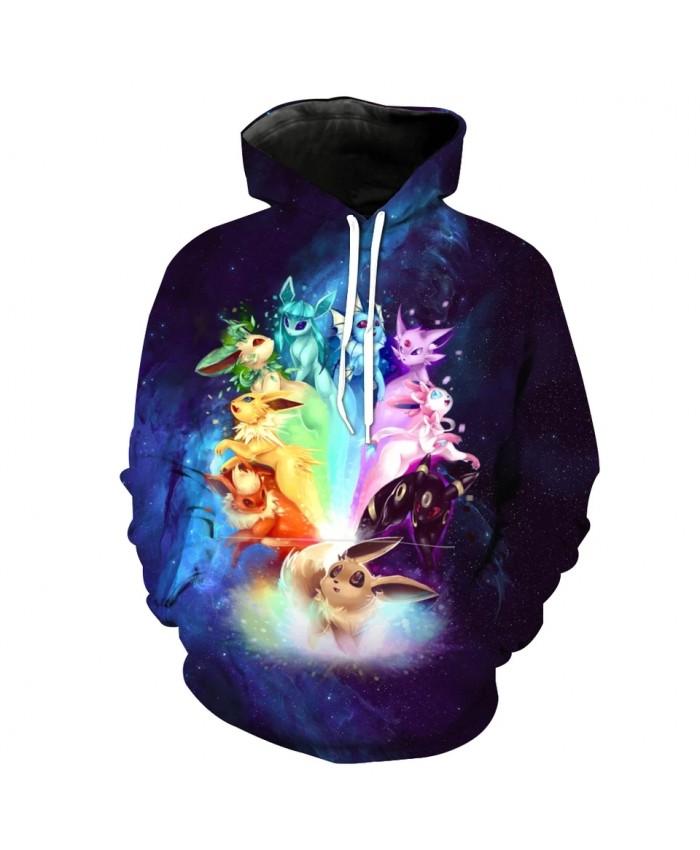 Men's Fashion 3D Hoodie Colorful cartoon fox print sweatshirts