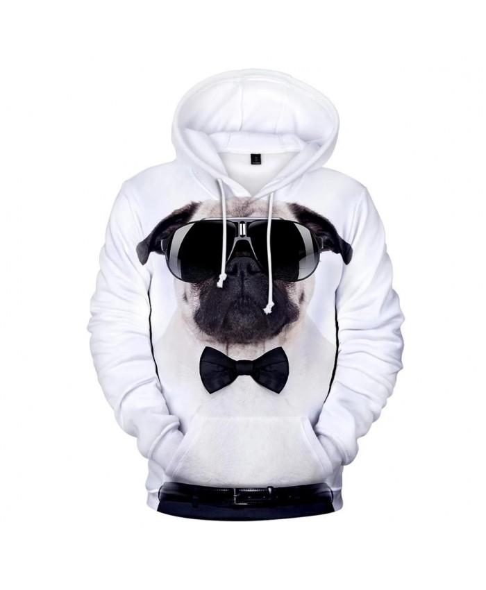 Popular Cute Pug 3D Hoodies Men Women Sweatshirts Harajuku Kids Hoodie pullover Print 3D Pug Hooded Autumn boys girls white Tops