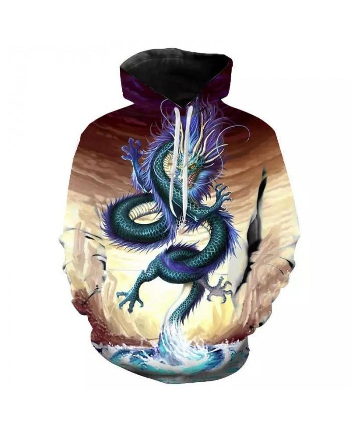 Black White Tattoo Dragon 3D Printed Men Hoodies Sweatshirt Unisex Streetwear Zipper Pullover Casual Jacket Tracksuits Hip Hop
