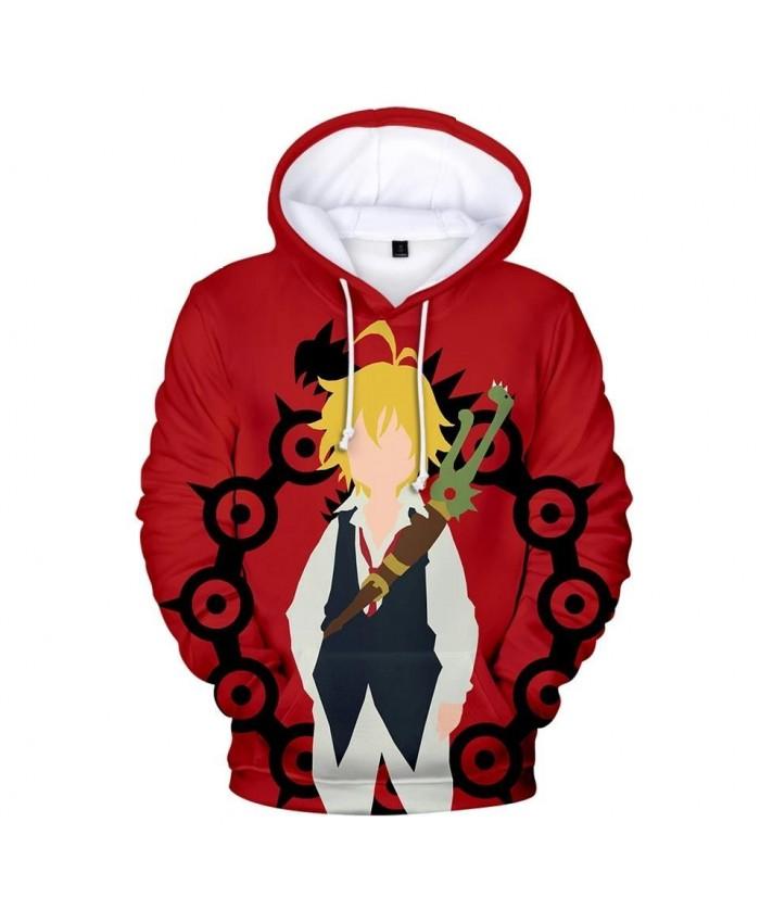 Suitable 3D meliodas boys girls Red Hoodies Sweatshirt Hot Fashion Men women Autumn Harajuku 3D Hoodie casual Kid pullovers Tops