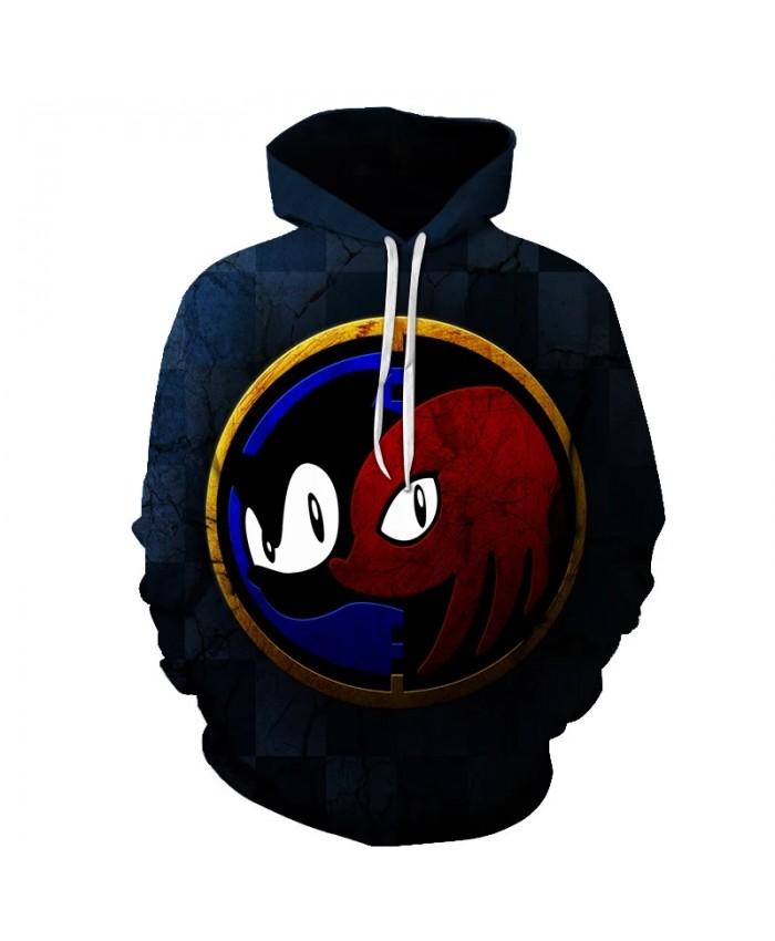 Anime Popular Cartoon 3D Sonic the hedgehog Men's Hoodies Spring Autumn Male Casual Hoodies Sweatshirts Men's Hoodies Sweatshirt