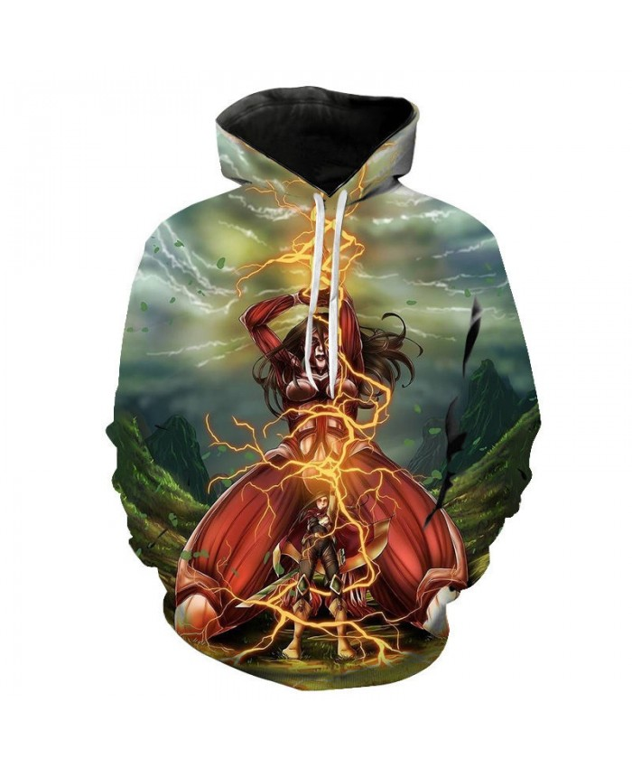 Fashion Attack on Titan Hoodie Cosplay Costume 3D Giant Daily Casual Print Hooded Men's Women Sweatshirts Movie Game Pullover