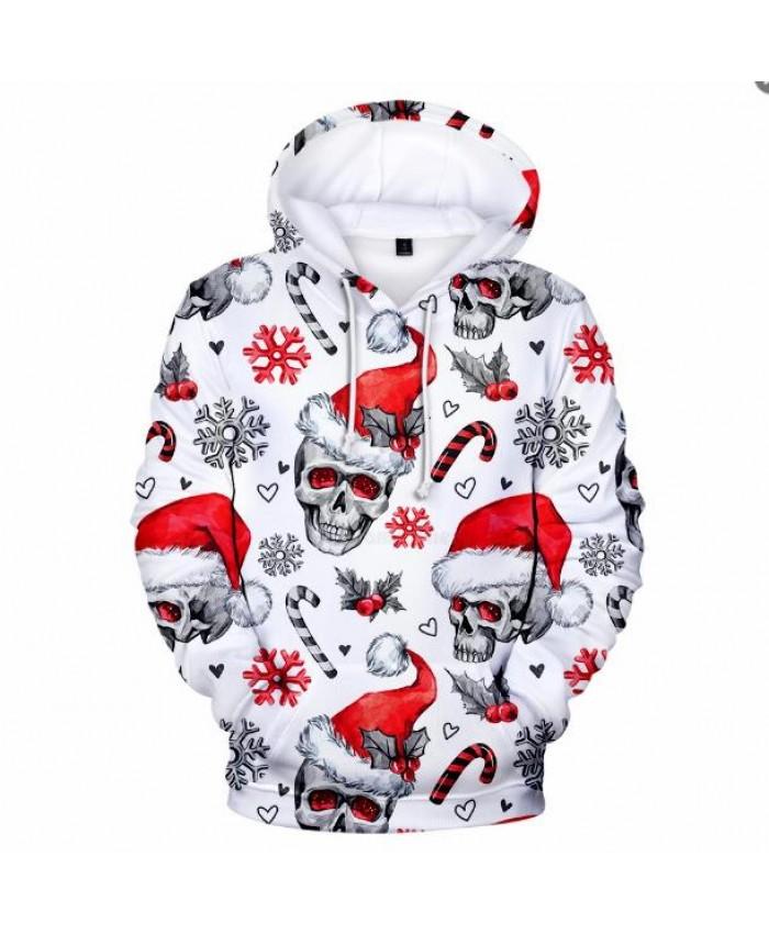 Christmas Hoodies Men Women Sweatshirts Skull 3D Printed Hip Hop Casual Funny pattern Christmas Kids Harajuku Hoodie