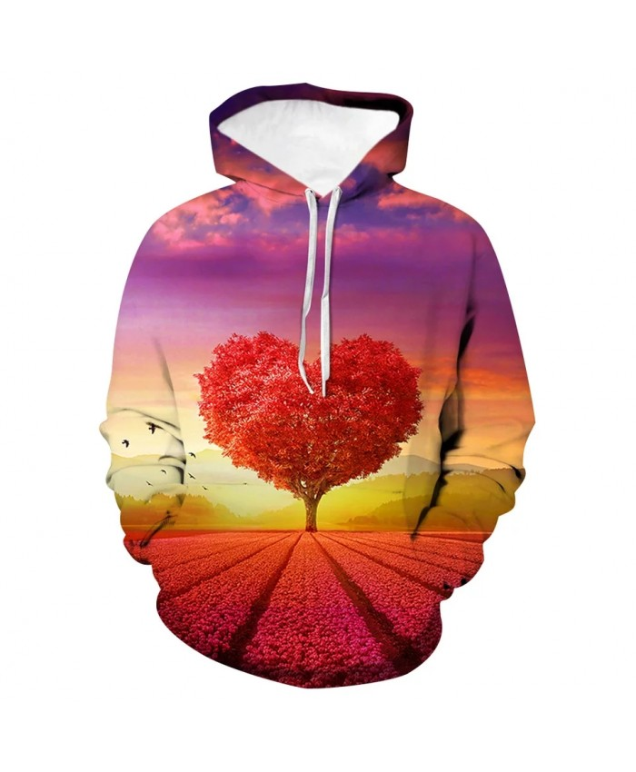 Spring And Autumn New3d Printed Men's And Women's Hoodie Long-sleeved Casual Pullover Couple Pocket Street Oversized Coat