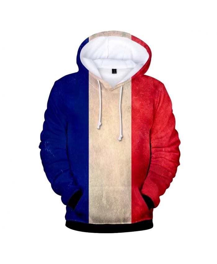 Hot France National Flag 3D Hoodies Men women Casual Harajuku 3D Print France National Flag Men's Hoodies and Sweatshirt