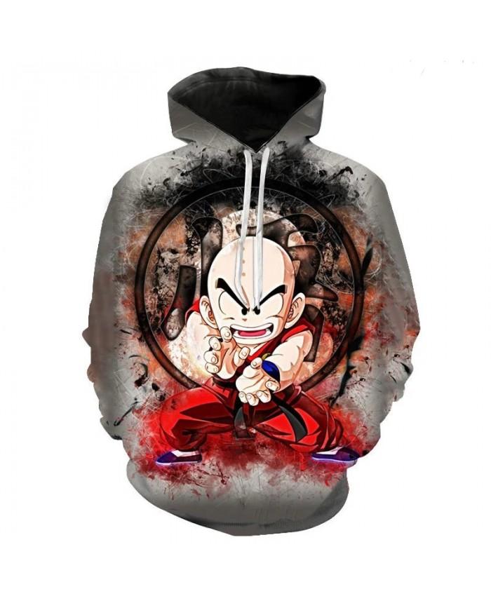 Anime Dragon Ball 3d Men's And Women's Hoodie Casual Children's Cartoon Goku Vegeta Sweatshirt Pullover Street Hip Hop Coat