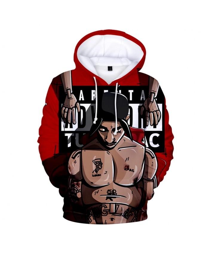 Gangsta Rap 2Pac Hoodies Mens Hoodie Sweatshirt Hooded Men Women Gangsta 2Pac Tupac Amaru Shakur Hoody Polluvers Cap Tracksuits