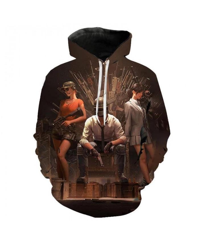 Aikooki New PUBG 3D Hoodies Men women Fashion Hot Game Playerunknown's Battlegrounds PUBG 3D Print Men's Hoodies and Sweatshirt