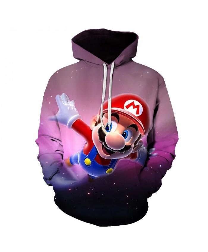 Japanese game Anime Mario 3D Print Hoodie Sweatshirt Autumn New Style 3D Tie Dyeing Hoodies Cartoon Super Casual Pullover Men