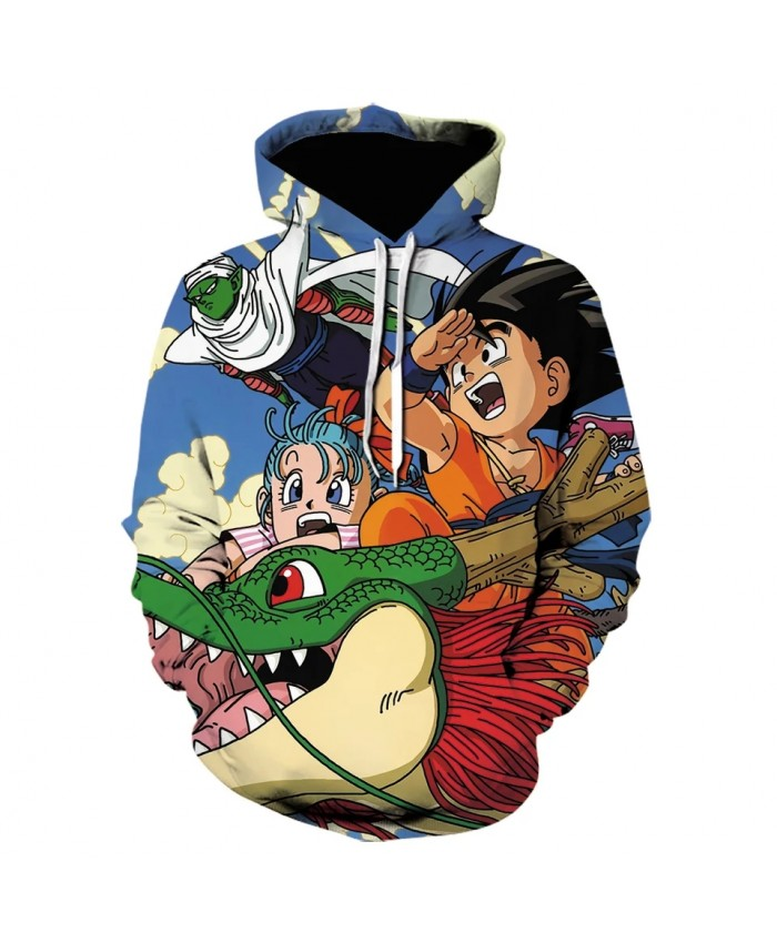 New Anime 3d Printing Hoodie Men's And Women's Sweatshirt Kids Cartoon Goku Pocket Hoodie Fashion Pullover Coat
