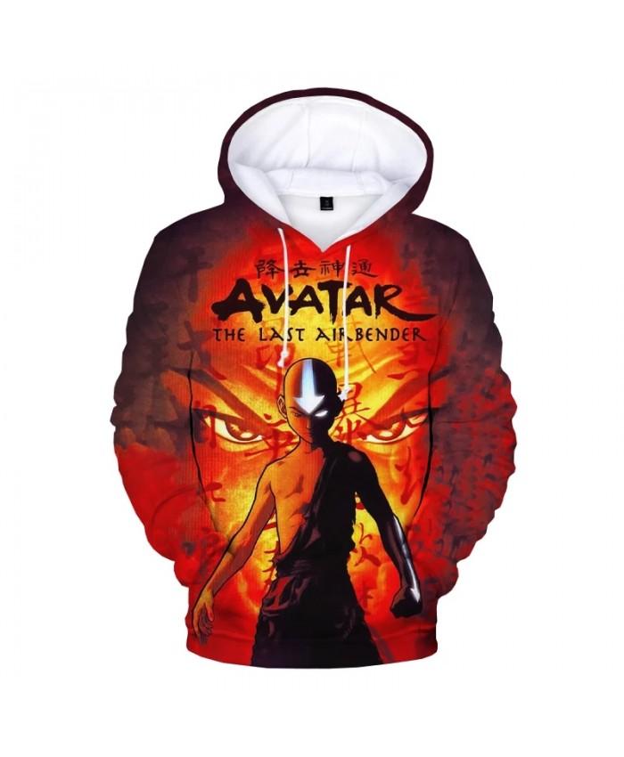 New Avatar The Last Airbender 3D Print Hoodies Harajuku Streetwear Sweatshirts Men Women Fashion Casual Cartoon Anime Pullover