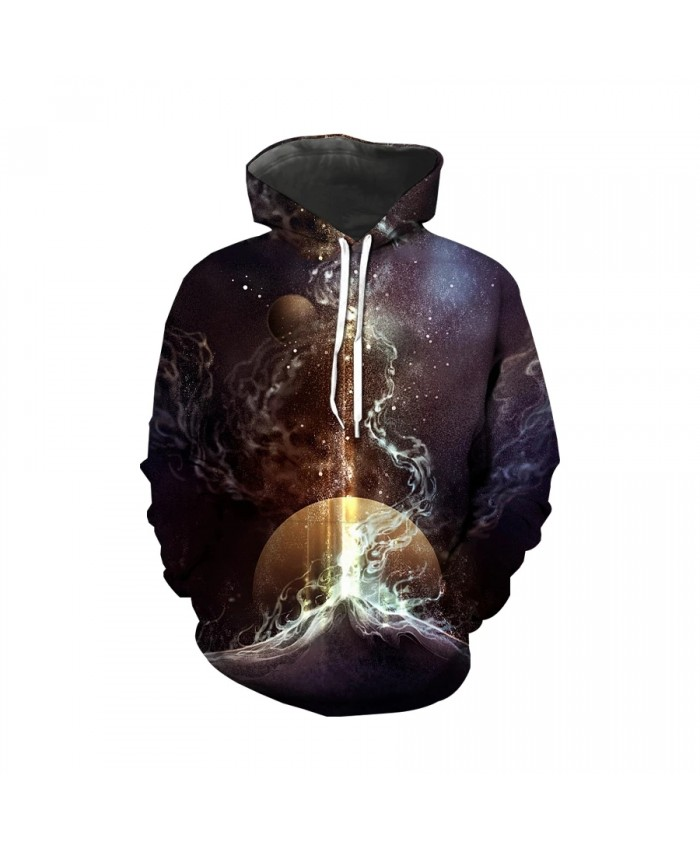 """Brand-new creative design 3D printing hooded pullover China """"Shanhaijing"""" Fantasy starry sky fashion wild plus size streetwear"""