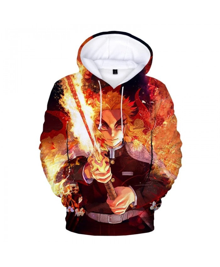 Japanese Anime Sweatshirts Hip Hop Hoodie Streetwear Men Demon Slayer 3D Print Fashion Casual Hoody Tops Female Male Hoodies