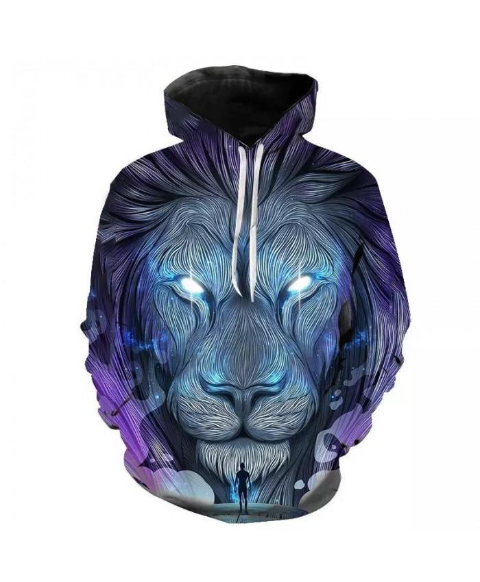 New Fashion Men Women 3D Sweatshirts Print Paisley Lightning Lion Hoodies Autumn Winter Hoodie Pullovers Tops Sweatshirts 2021