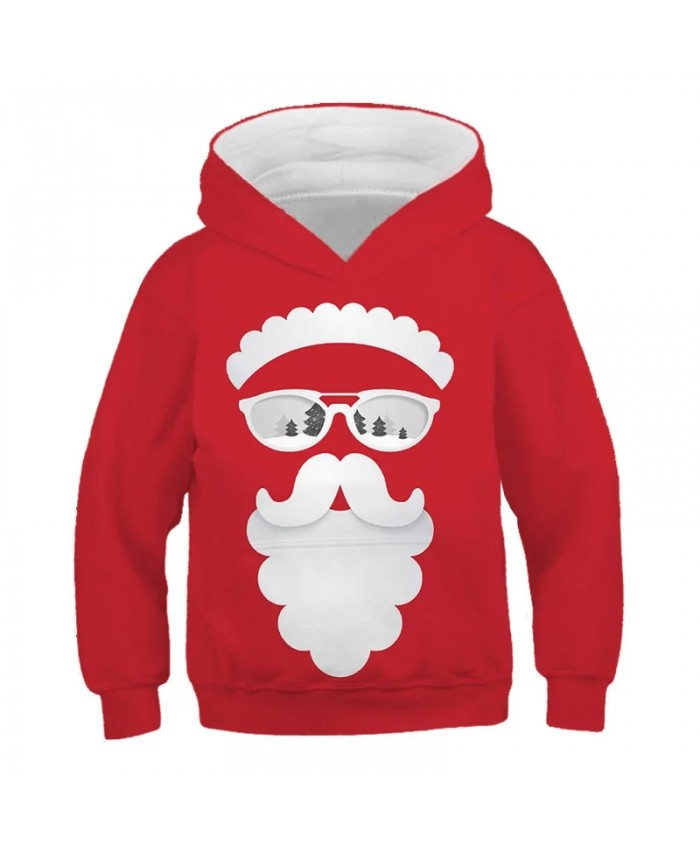 2021 Christmas Santa Claus New Autumn And Winter Kids Boys Girls Clothes Hooded Cartoon 3D Print Hoodie Sweatshirt Tops Clothes