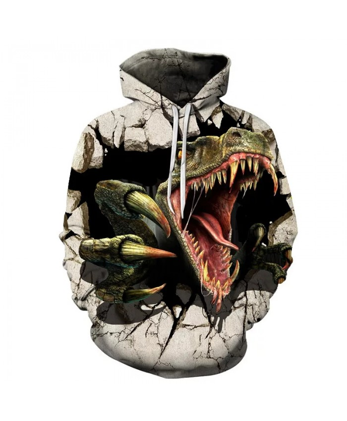 2021 Autumn And Winter New Men's And Women's Hoodies 3d Printing Dinosaurs Young Children Fashion Long-Sleeved Sweatshirt Coat