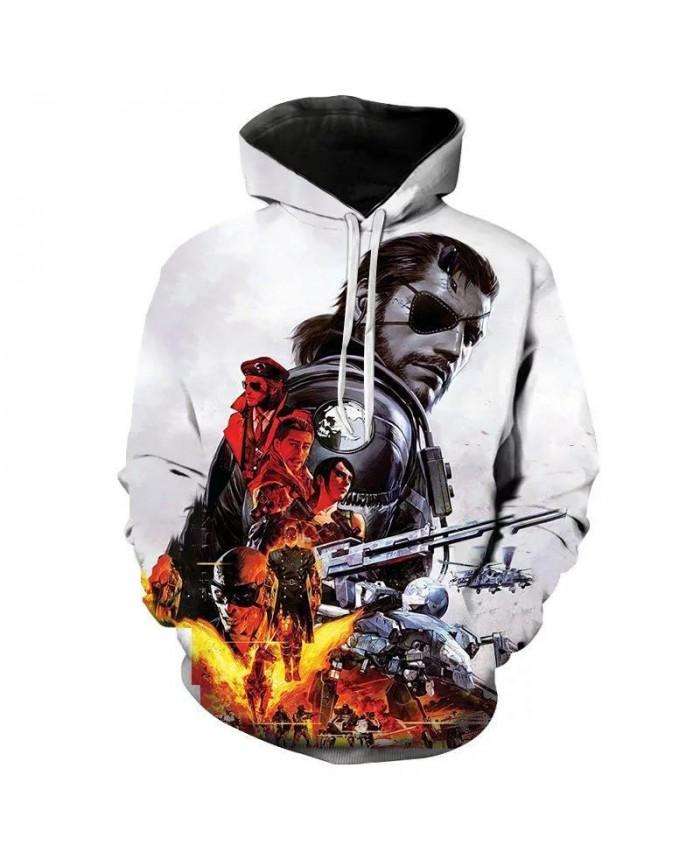 New Hoodies Metal Gear Solid Men Women Children Sweatshirts 3D Printed Boy Girl Streetwear Fashion Casual Hooded Pullover Coat