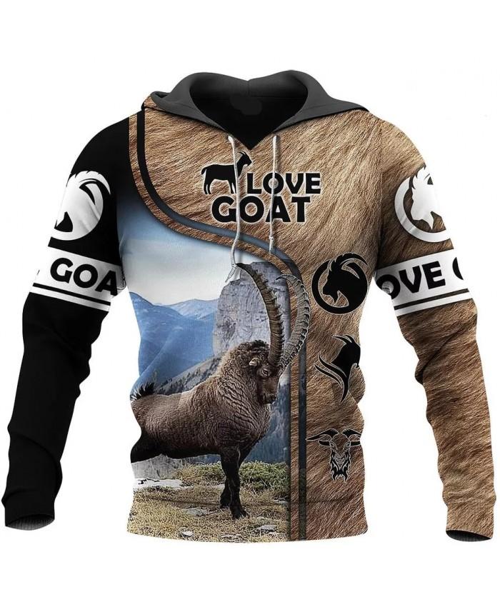 New fashion hoodie 3D printing beautiful goat series sweatshirt hoodie zipper unisex fun casual street sweatshirt N03