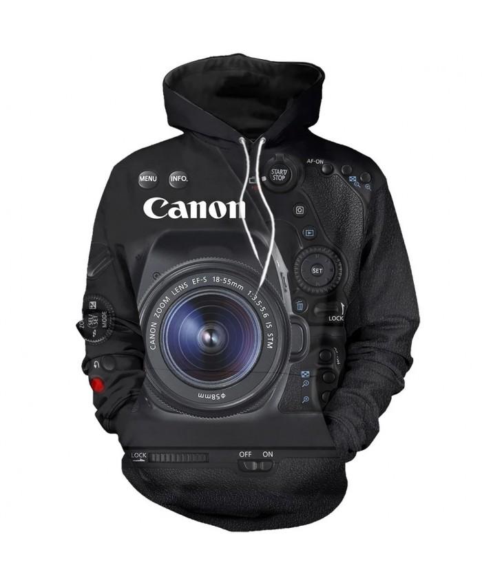 New beautiful camera 3D printed sweatshirt hoodie zipper hoodie unisex fashion casual sweatshirt