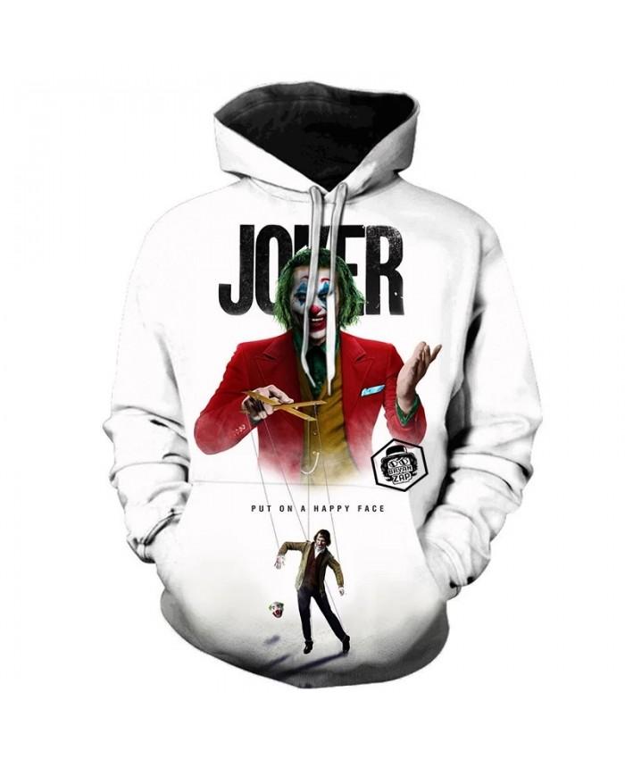 Horror Movie Joker 3D Printed Hoodie Sweatshirts IT Clown Fashion Casual Pullover Men Women Hip Hop Streetwear Oversized Hoodies