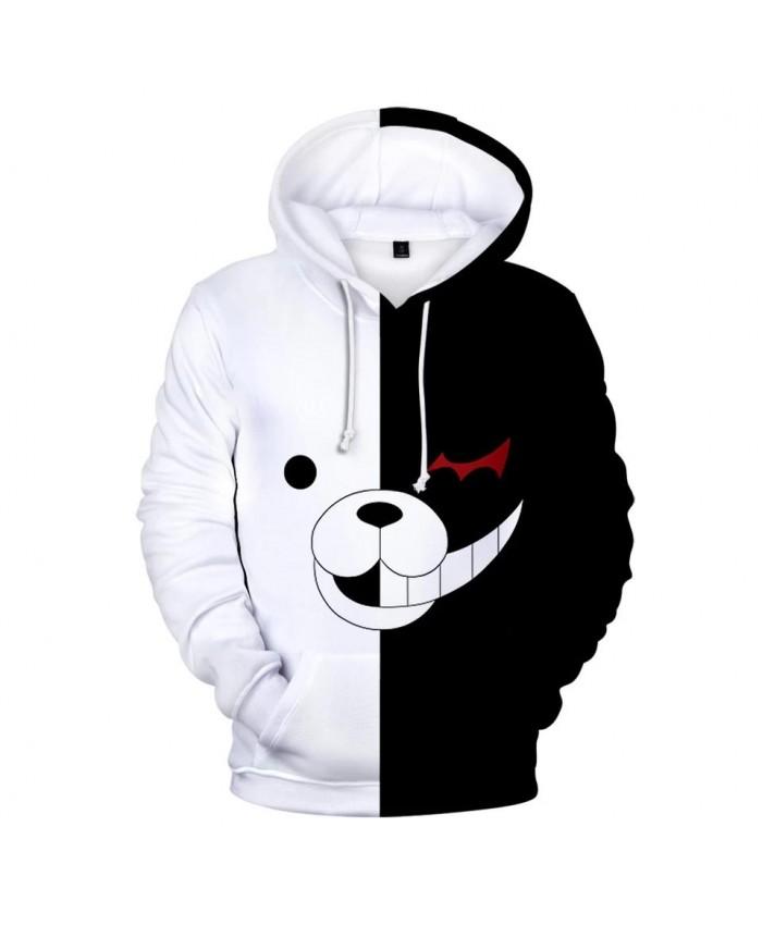 Fashion 3D monokuma boy girl popular hoodie man woman autumn and winter comfortable sweatshirt 3D casual children white pullover