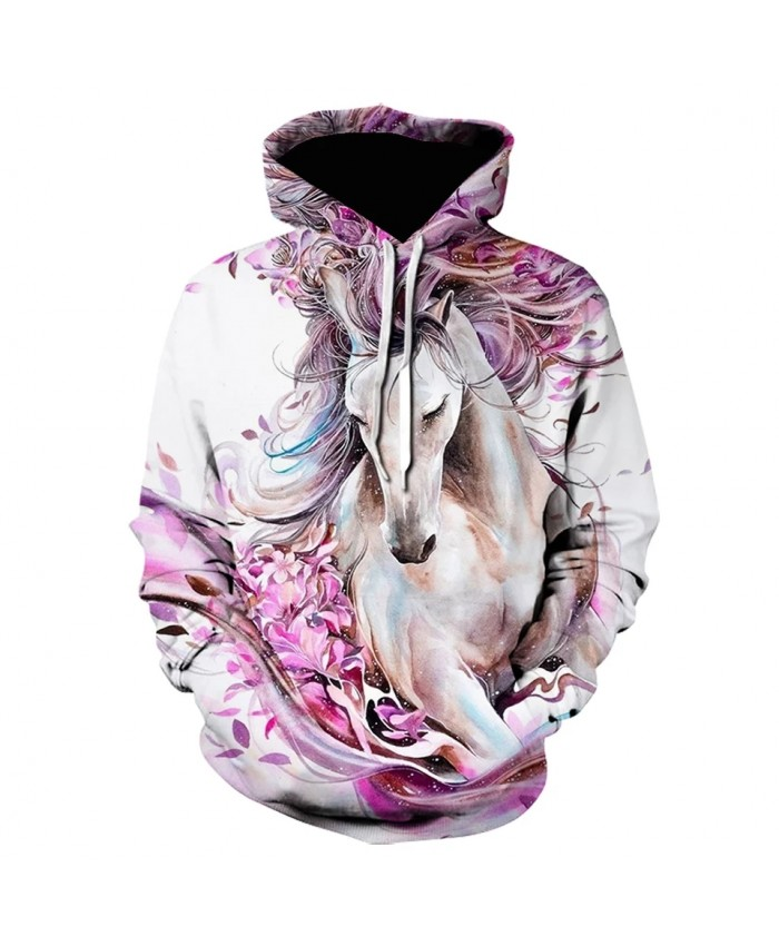 new hot animal 3D Print Sweatshirts Painted horse Men women hoodie brand design harajuku pullover Autumn And Winter Hoodie