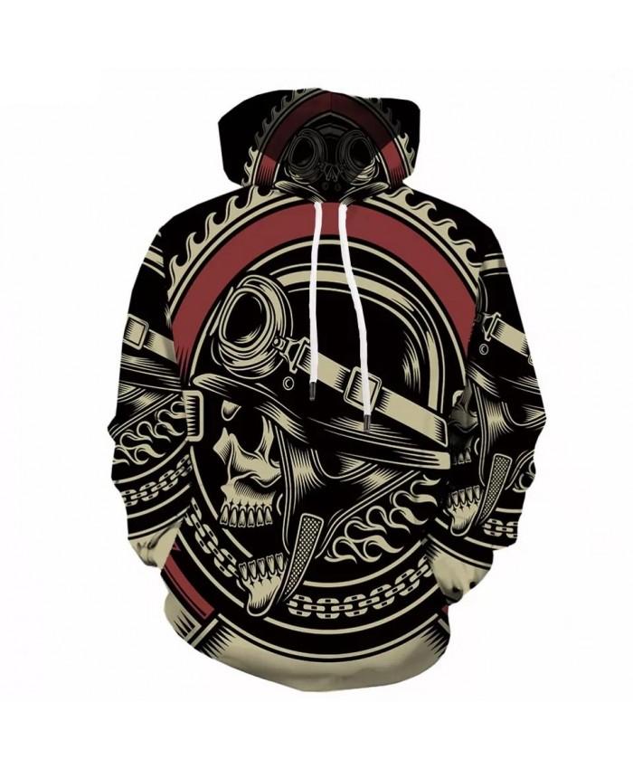 Skull Hoodie Men Anime 3d Hoodies Printed War Sweatshirts Punk Rock Clothes Vintage Mens Clothing Casual Sweatshirt Hooded