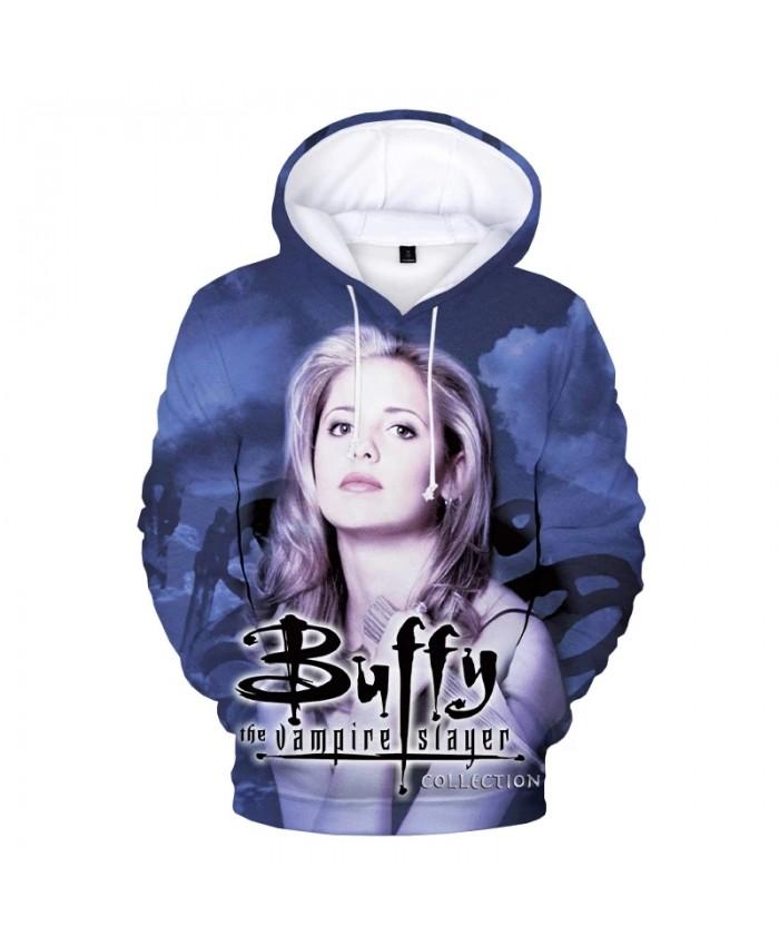 2021 Buffy the Vampire Slayer 3D Print Hoodies Men Women Fashion Casual Pullover Unisex Harajuku Streetwear Hooded Sweatshirts