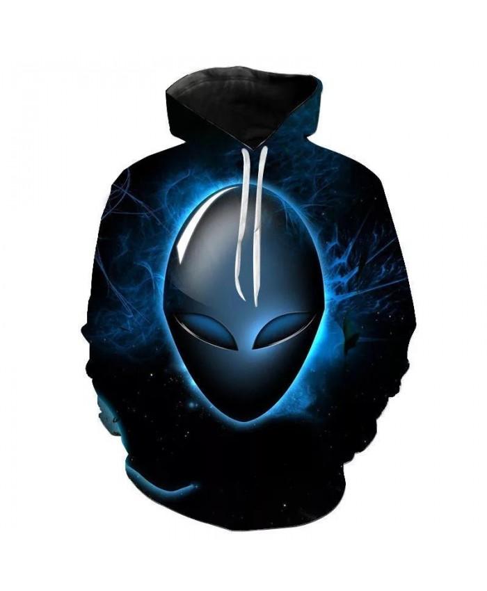 2021 New Men Women Children Hoodies Alien UFO 3D Sweatshirts Fashion Long Sleeve Cool 3D Printed Boy Girl Kids Hooded Pullover
