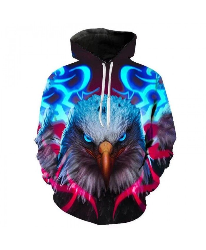 Love Eagle 3D Print Sweatshirt Hoodies Men and women Hip Hop Funny Autumn Streetwear Hoodies Sweatshirt For Couples Clothes Cool