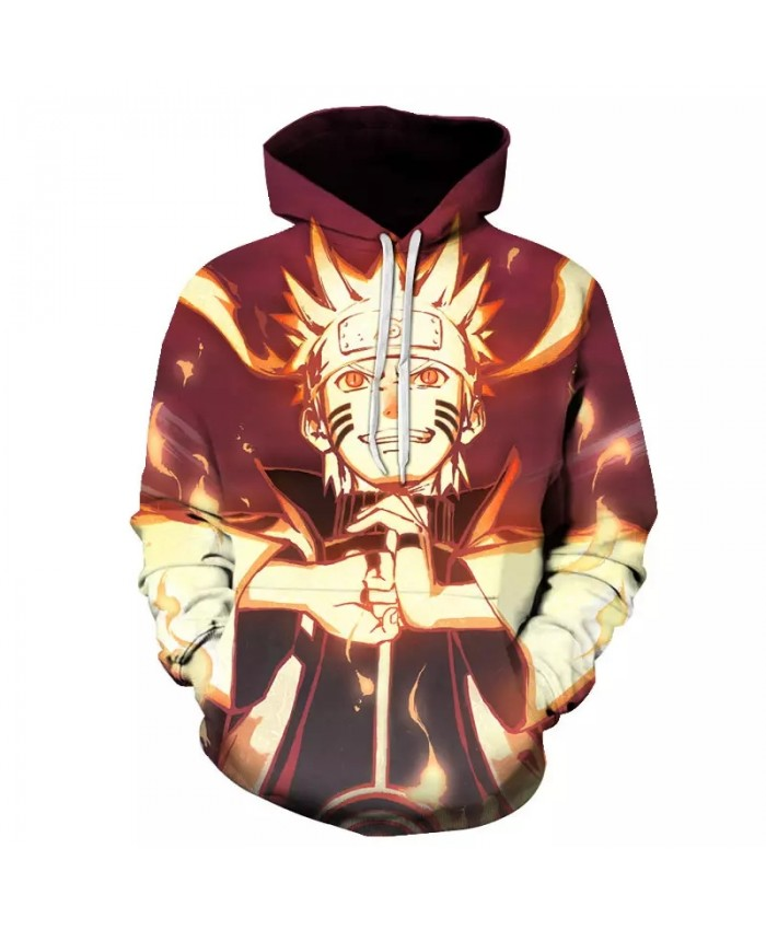 Spring And Autumn Cool 3d Printing Men's And Women's Hoodie Japanese Anime Naruto Pullover Fashion Harajuku Sportswear Top