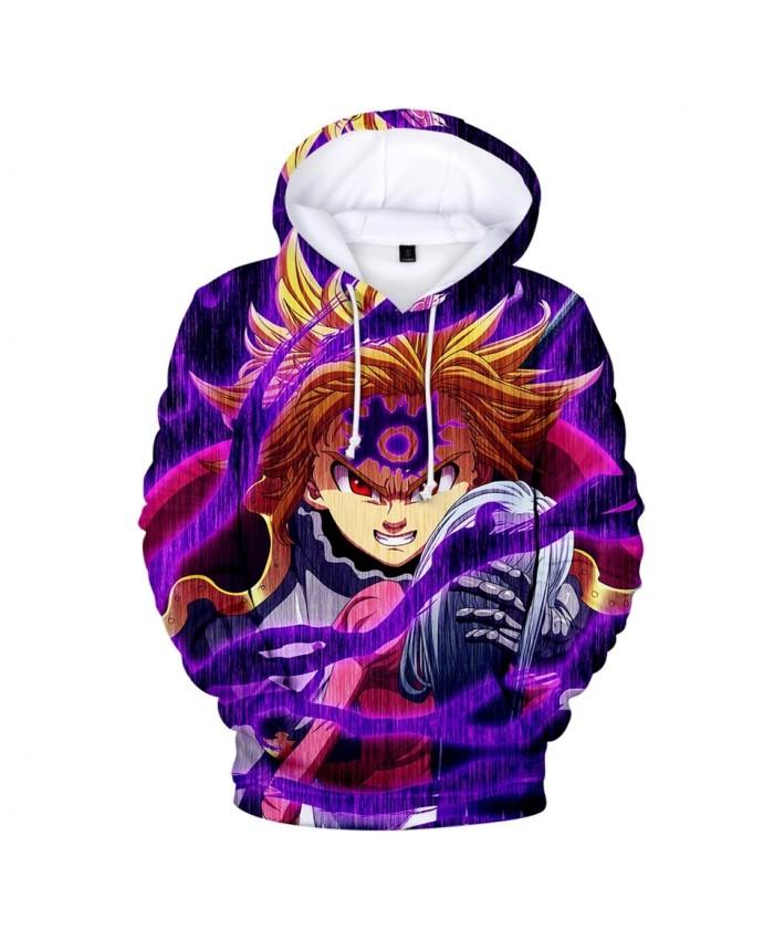 Fashion boys girls 3D meliodas Hoodies Men women Sweatshirt Comfortable Autumn Harajuku 3D Hoody casual meliodas pullovers
