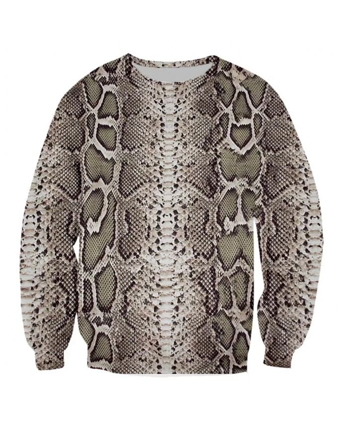 Snakeskin Pattern FaShion Long Sleeves 3D Print Hoodies Sweatshirts Jacket Men women tops