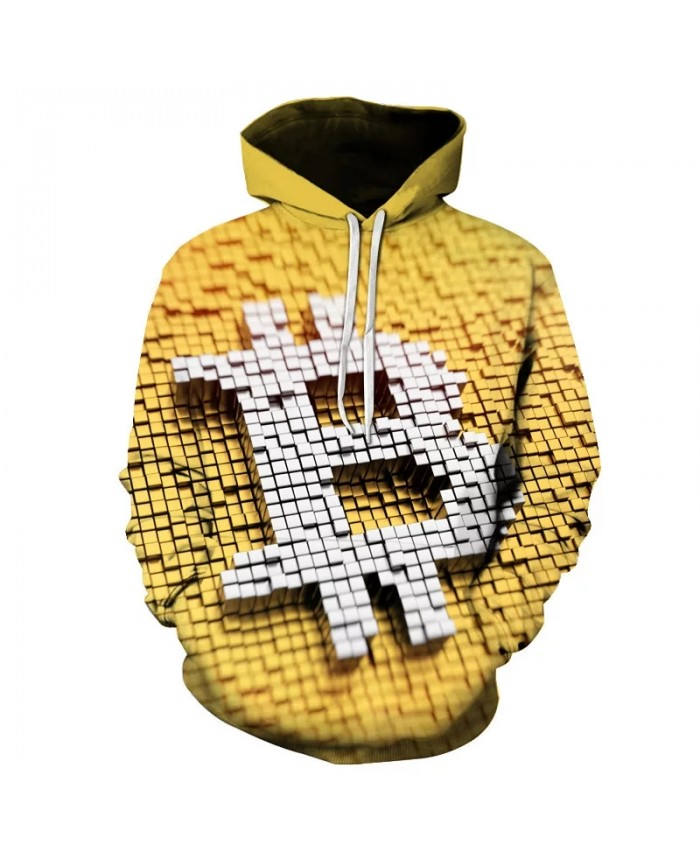 Autumn Men's And Women's Cool Hoodies 3d Printed Bitcoin Tee Fashion Sweatshirt Streetwear Fun Hip Hop Casual Pullover Coat