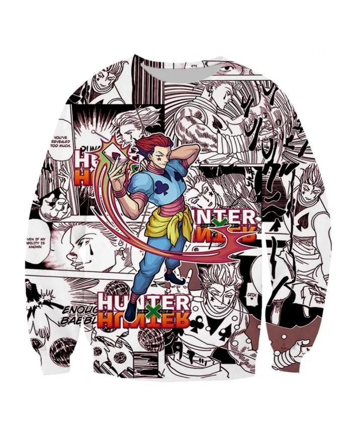 Hunter×Hunter Funny New Fashion Long Sleeves 3D Print Zipper Hoodies Sweatshirts Jacket Men women