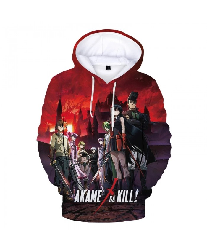 Akame Ga Kill 3D Print Hoodie Sweatshirts Men Women Fashion Casual Cartoon Anime Pullover Unisex Harajuku Streetwear Hoodies