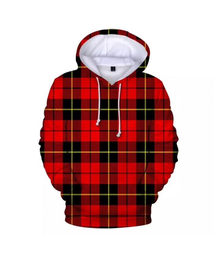 Hot Man Woman Lattice Popular 3D Hoodie Autumn Winter Harajuku Red Plaid Fashion Kids Sweatshirt Child Comfort Hoodie