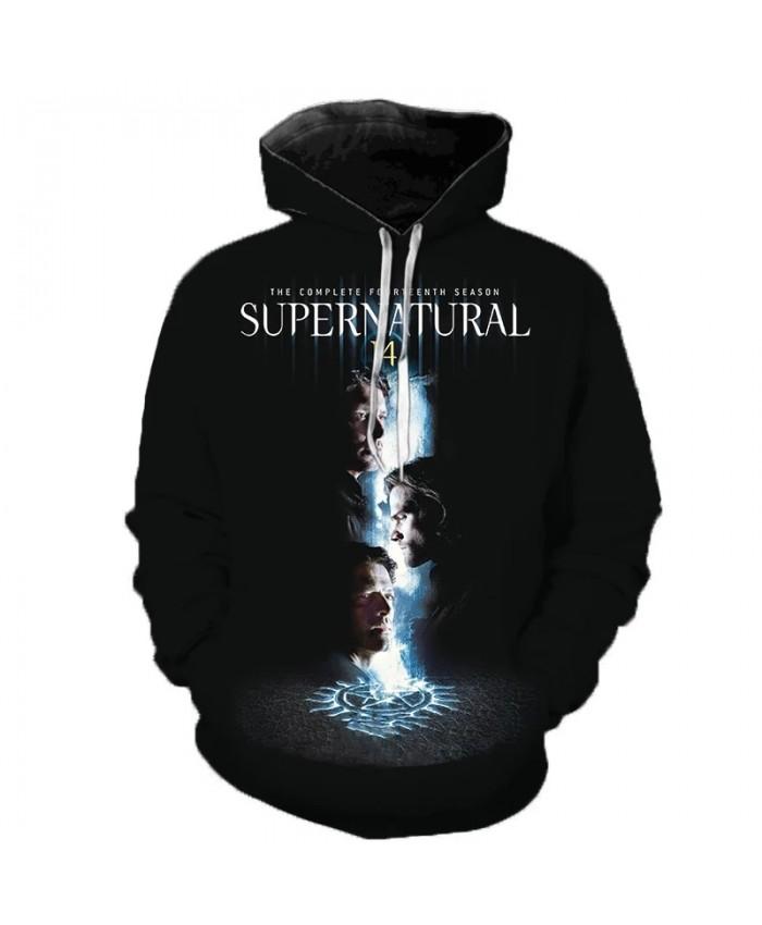 New Arrival Supernatural 3D Hoodie Sweatshirts Horror TV Drama Casual Pullover Men Women Fashion Streetwear Harajuku Hoodies