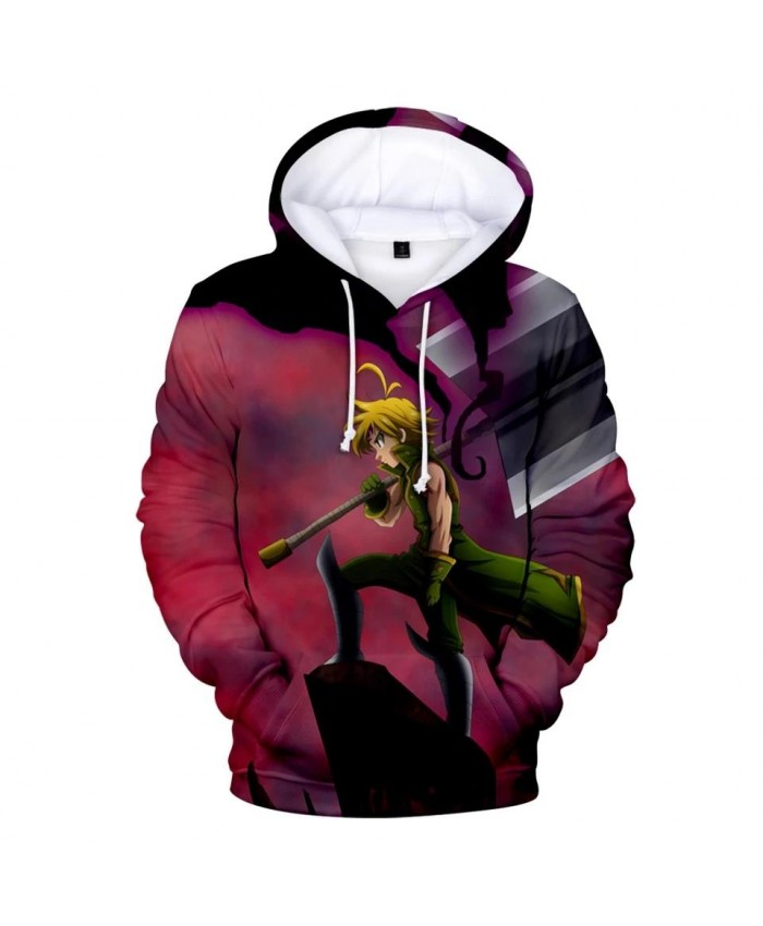 New Fashion 3D The Seven Deadly Sins Comic Hoodies Men Women Sweatshirts Autumn Kids Hoodie 3D suitable boys girls pullovers