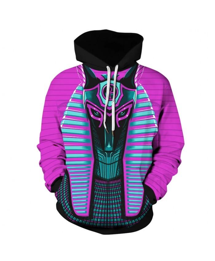 New Arrival Harajuku Hoodies 3D Egypt Print Pullover Sweatshirt Hip Hop Long Sleeve Streetwear