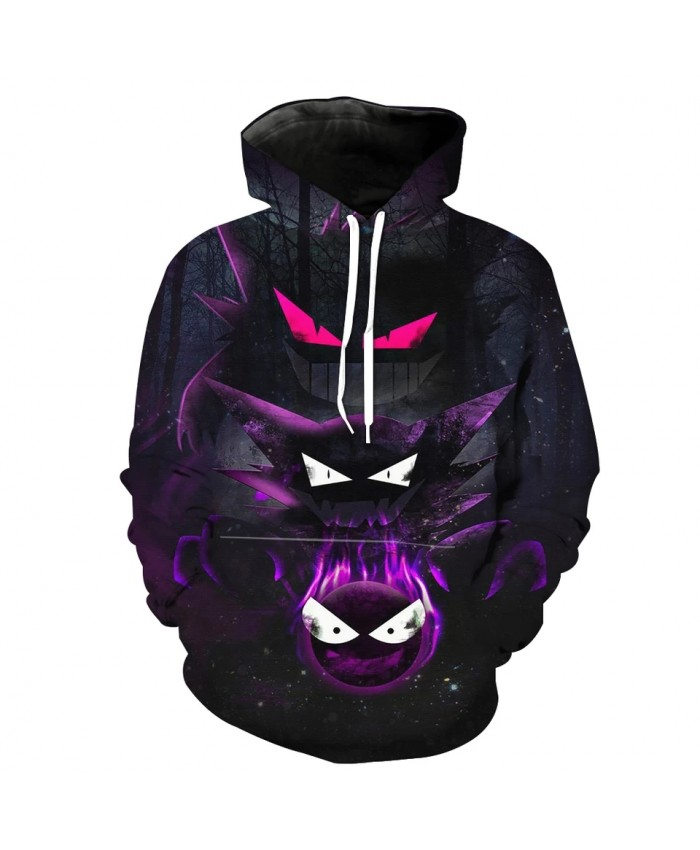 Men's Fashion 3D Hoodie Diablo series long-eared elf print sweatshirts