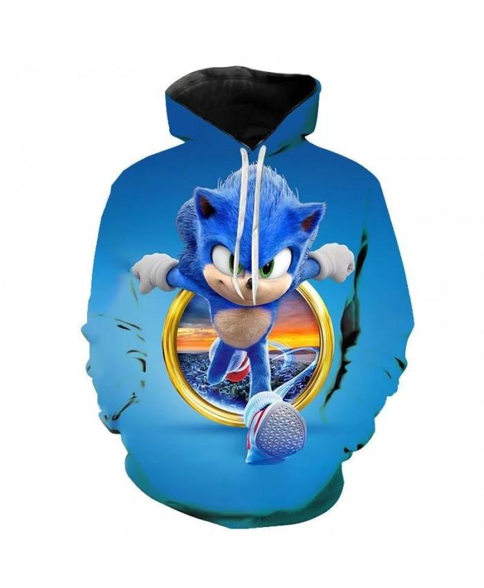 Sweatshirts Casual New Men Women Children Sonic the Hedgehog 3D Printed Hoodies Boy Girl Pullover Streetwear Fashion Hooded Tops