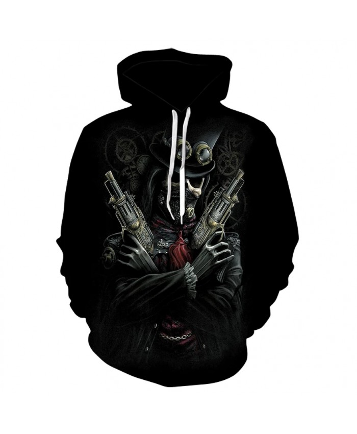 2021 new skull print hoodie sweatshirts spring and fall fashion men's and women's casual long-sleeved hoodies