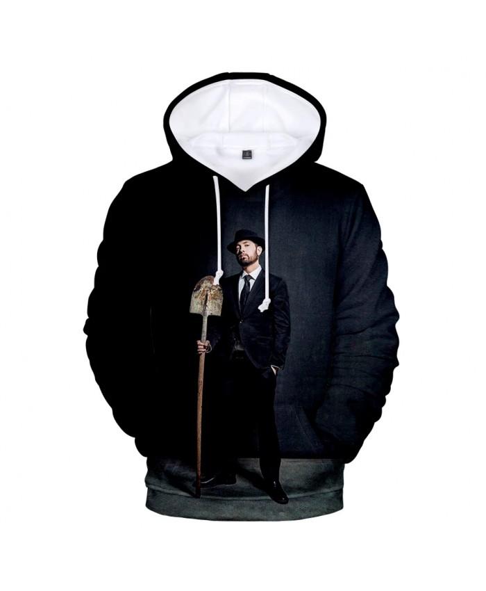 Suitable 3D Eminem Hoodies Long Sleeve Sweatshirts Men Women Hoodie Autumn Kids 3D print Eminem Hooded boys girls black Outwear