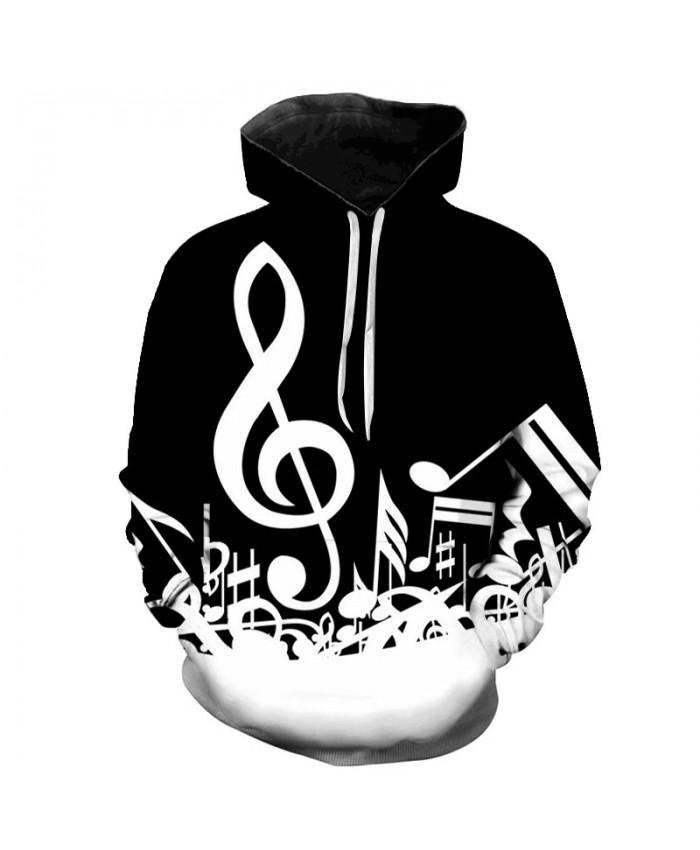 Music Notes 3D Printed Hoodie Sweatshirts Men Wome Spring Music Casual Long Sleeve Pullover Hip Hop Funny Streetwear Hoodies