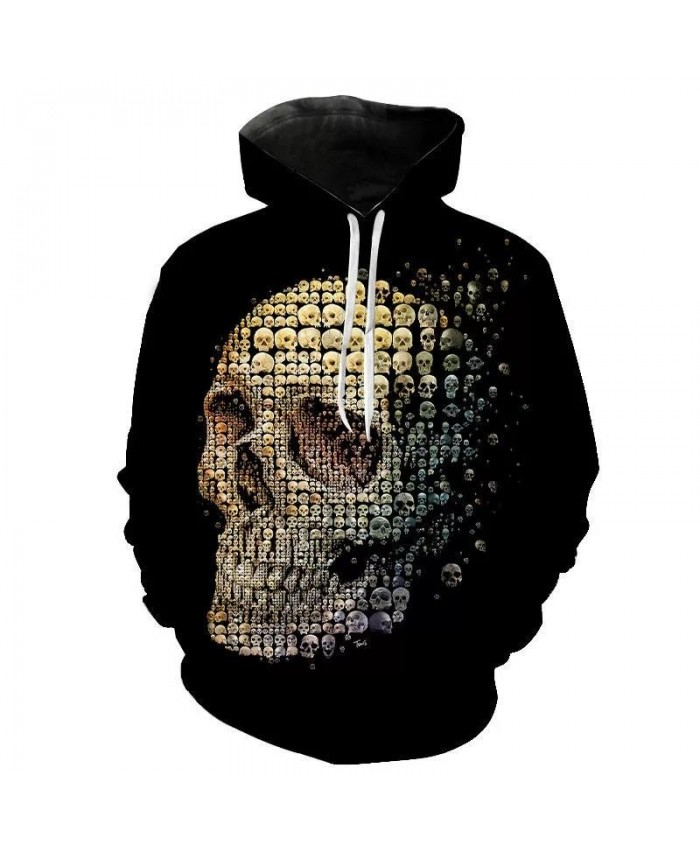 New 2021 Custom Unisex Sweatshirt 3D Skull Printed Pullovers Hoodies Dropship Asian Size Boys Girls Child Men Women SSX-10XL