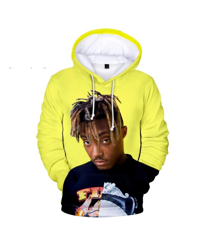 3D printed Juice WRLD Hoodies Men Sweatshirts Women Harajuku Kids Pullovers Suitable 3D Juice WRLD boys girls yellow Hooded