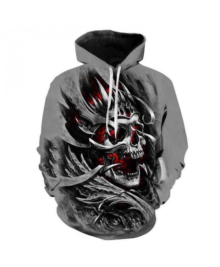 Horror Skull Skeleton Series 3D Printing Long Sleeve New Hot Sale Hoodie Couple Sports Top Hoodie New Boys Girls Child Men Women