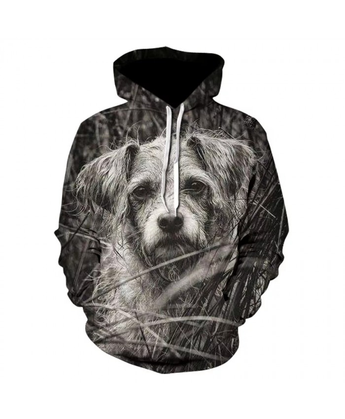 Hot selling men's animal print flower hoodie fashion high quality 3D dog series comfortable long sleeve thin hoodie